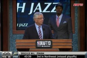 The most awkward moment of the draft.