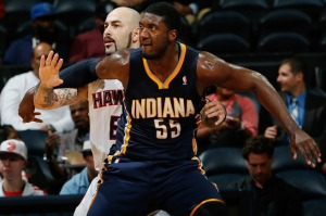 Antic gave Hibbert some trouble in the Hawks' last meeting with the Pacers.