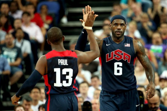 CP3 and LeBron have been friends ever since their Olympic days.